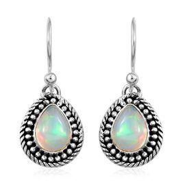 Artisan Crafted Ethiopian Welo Opal Earrings in Sterling Silver 1.560  Ct.