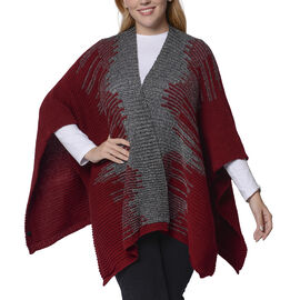 Italian Close Out- Wine Red Colour Kimono (Size 118x60 Cm)