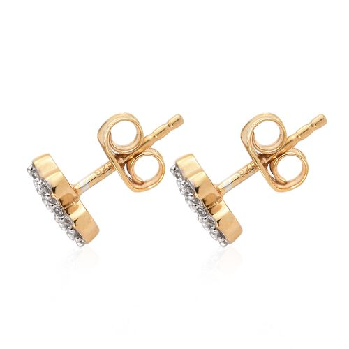 WEBEX- J Franics 14K Yellow Gold Overlay Sterling Silver Earrings (with Push Back)
