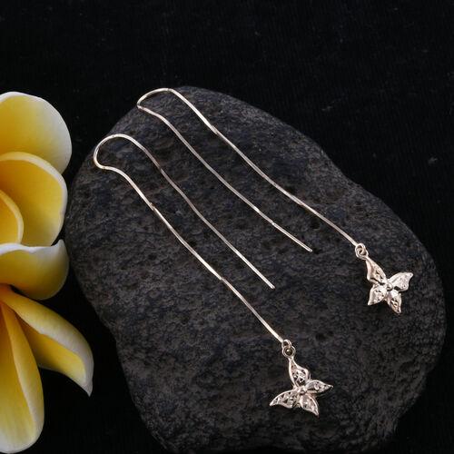 Royal Bali Collecion 9K Yellow Gold Diamond Cut Butterfly Hook Earrings