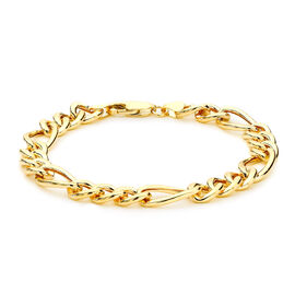 Hatton Garden Close Out Figaro Chain Bracelet in 9K Yellow Gold 8 Inch