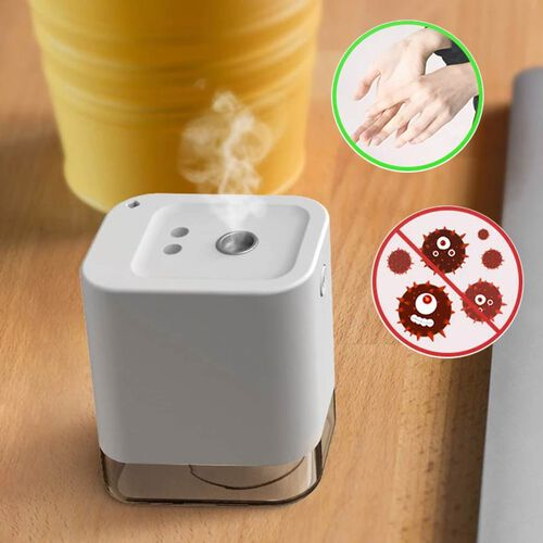 Portable Automatic Alcohol Disinfection Sprayer with 1800mAh Rechargeable Battery (Size 9.1x7.7x5.73 Cm) - White