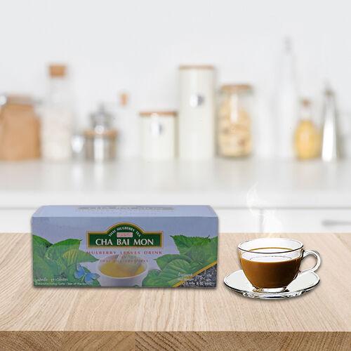 CHA BAI MON - Ground Mulberry Leaves Tea in Sachets (100 Sachets)
