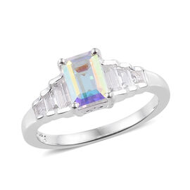 Mercury Mystic Topaz (Oct), White Topaz Ring in Sterling Silver 1.765 Ct.