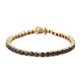 Elite Shungite Bracelet (Size 7.5) in 14K Gold Overlay Sterling Silver 6.00 Ct, Silver wt 9.70 Gms