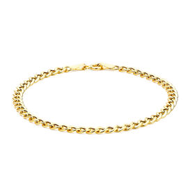 Flat Curb Chain Bracelet in 9K Yellow Gold 1.90 Grams 7.25 Inch