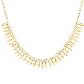Hatton Garden Close Out Deal- Italian Made 9K Yellow Gold Cleopatra Necklace (Size - 17) Gold Wt. 6.