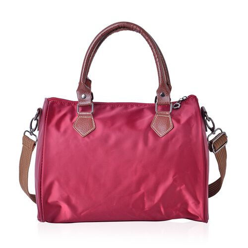 Burgundy Light Weight Water Resistant Bag with Adjustable Shoulder Strap (Size 28X21X18 Cm)