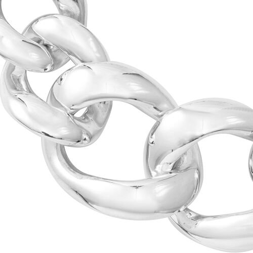 Designer Sterling Silver Curb Necklace (Size 20), Silver wt 76.60 Gms.