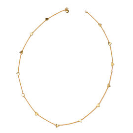 RACHEL GALLEY Heart Station Necklace in Gold Plated Sterling Silver 26 Inch