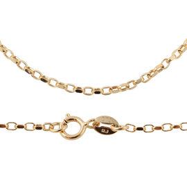 9K Yellow Gold Diamond Cut Belcher Chain (Size 18), Gold wt 1.20 Gms