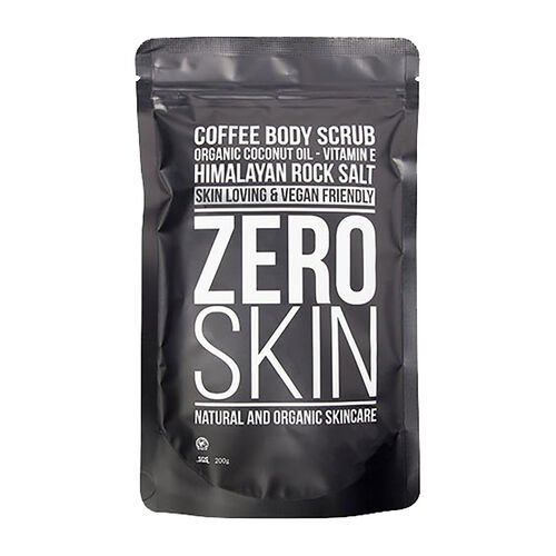 Zero Skin: Black Peel Off Mask, Coffee Body Scrub, Apple & Green Tea Eye Mask (x 10) & 24k Gold Charcoal Face Mask (x 4)