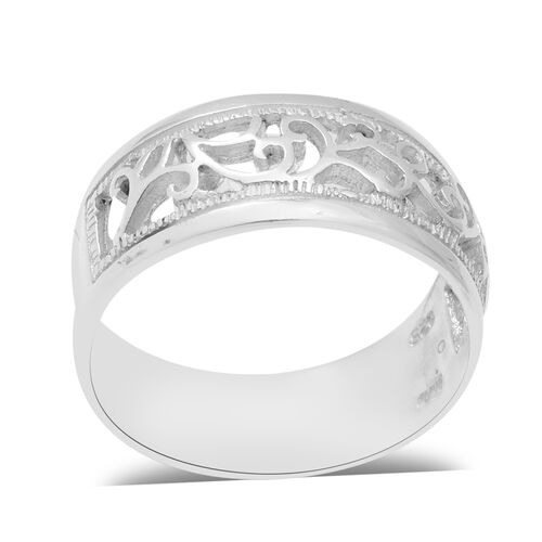 Vines Band Ring in Sterling Silver