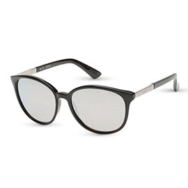 retro sunglasses with mirror lenses and metal temples with guess writiing
