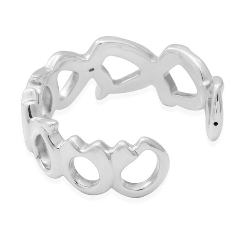 Sterling Silver Infinity Cuff Bangle (Size 7.5)
