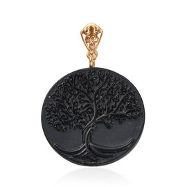 Elite Shungite Life of Tree Pendant in Yellow Gold Overlay Sterling Silver 16.980 Ct.