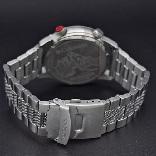 Columbia Outbacker White 3-Hand Date Stainless Steel Bracelet Watch