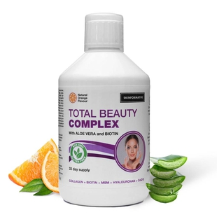 SkinFormative: Total Beauty Complex with Aloe Vera and Biotin Collagen - Natural Orange Flavour (500