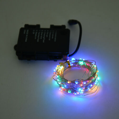 Home Decor Yellow, Green, Blue and Red Colour 2 Metre Micro LED String Lights