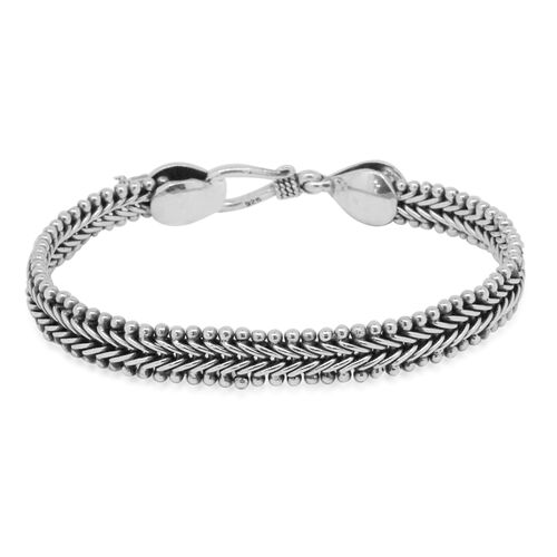 Royal Bali Collection Sterling Silver Tulang Naga Bracelet (Size 7.5), Silver wt 21.49 Gms.