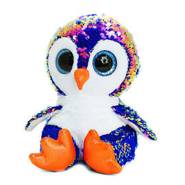 Keel Toys - Glitter Motsu - Blue and Rose Gold Sequins Penguin