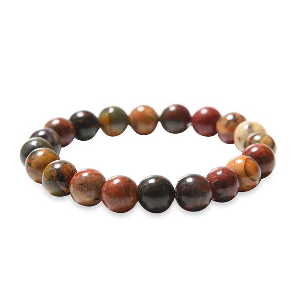Picaso Jasper Beads Stretchable Bracelet (Size 6.5) 143.00 Ct.