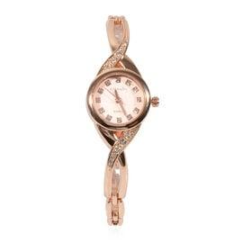 ETERNITY Swarovski Studded Ladies Watch in Rose Gold Tone - 7.5 Inch