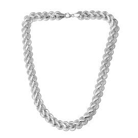 Close Out Deal Designer Inspired Sterling Silver Fancy Link Necklace (Size 20), Silver wt 50.85 Gms.
