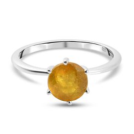 New Arrival- Yellow Sapphire Solitaire Ring in Sterling Silver 2.00 Ct.