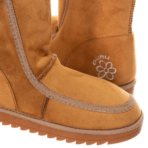 GURU Womens Winter Fluffy Ankle Boots (Size 3) - Honey/Tan