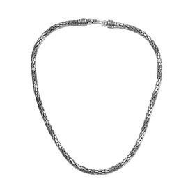 Royal Bali- Sterling Silver Dot Necklace (Size 20), Silver wt 49.02 Gms
