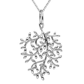 Leaf Design Pendant with Chain in Platinum Plated Silver 6.14 Grams 18 Inch