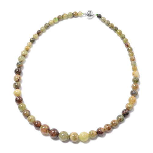 Tucson Find-Extremely Rare Mali Garnet Necklace (Size 20) with Magnetic Lock in Sterling Silver 405.
