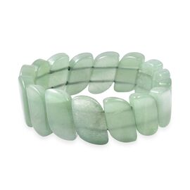 Green Aventurine Stretchable Bracelet (Size 7.5) 255.50 Ct.