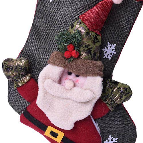 Christmas Decoration 3D Santa Claus Stocking (Size 24x46x27cm)