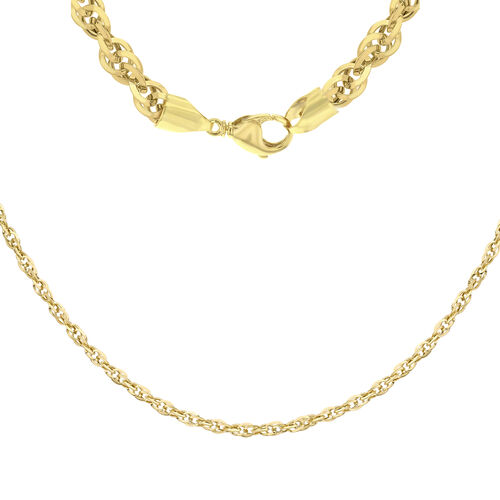 9K Yellow Gold Diamond Cut Prince of Wales Chain (Size 18), Gold wt 1.80 Gms