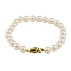 9K Yellow Gold Japanese Akoya Pearl Bracelet (Size 7)