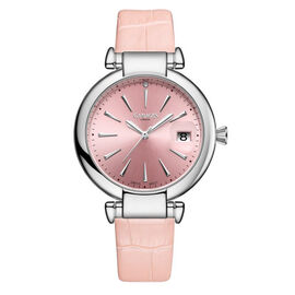 GAMAGES OF LONDON Ladies Starlight Swiss Movement with Diamond - Pink - up to 9.5 in