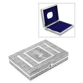 Mother Nature Embossed Oxidized Ring Organizer Box with 9 Slots (Size L- 20.3 x W- 28 x D- 5 Cm)