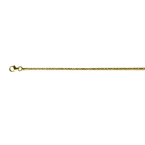 Vicenza Collection 14K Gold Overlay Sterling Silver Rock Chain (Size 36), Silver wt 6.50 Gms.