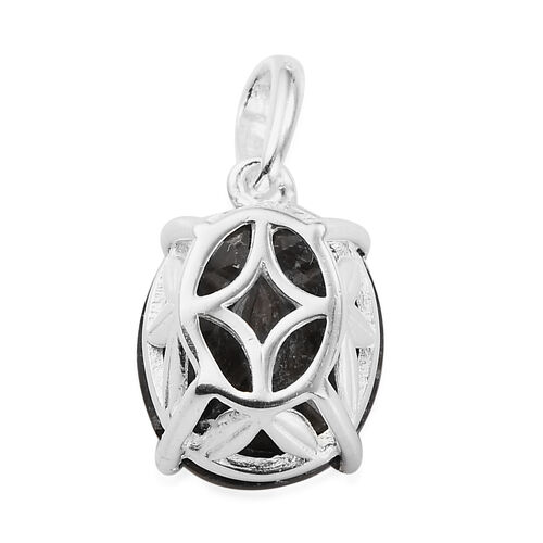 Silver Sapphire Solitaire Pendant in Sterling Silver 6.40 Ct.