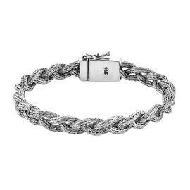 Royal Bali Tulang Naga Braided Chain Bracelet in Sterling Silver 26.75 Grams Size 7.5 Inch