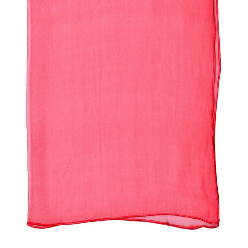 End Of Season Deal-100% Mulberry Silk Red Colour Scarf (Size 170X60 Cm)