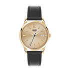 Henry London Westminster Unisex Water Resistant Watch with Genuine Leather Strap - Black
