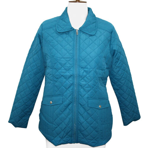 SUGAR CRISP Padded Quilted Jacket (Size 14) - Teal