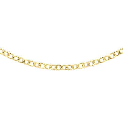 JCK Vegas Collection ILIANA 18K Yellow Gold Trace Chain (Size 20) with Round Lobster Clasp, Gold wt