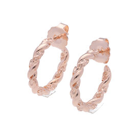 RACHEL GALLEY Lattice Twisted Hoop Earrings in Rose Gold Plated Sterling Silver