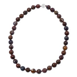 Extremely Rare Natural Pietersite Necklace (Size 20) in Rhodium Overlay Sterling Silver 462.50 Ct.