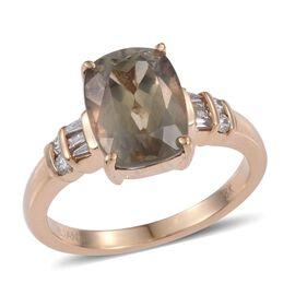 ILIANA 4.75 Ct Natural Turkizite and SI GH Diamond Ring in 18K Gold