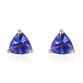 ILIANA 1 Carat AAA Tanzanite Stud Earrings in 18K Gold